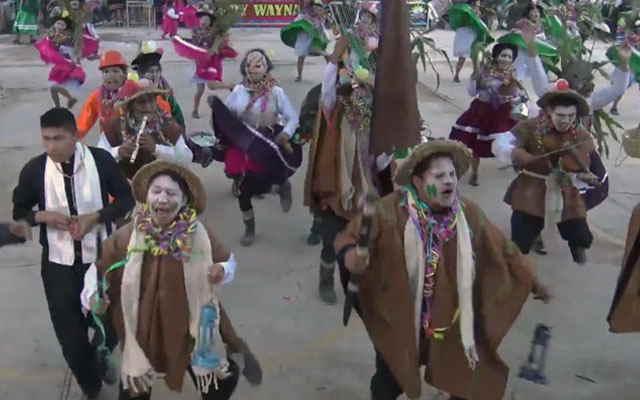 danza carnaval de huanupampa vestimenta
